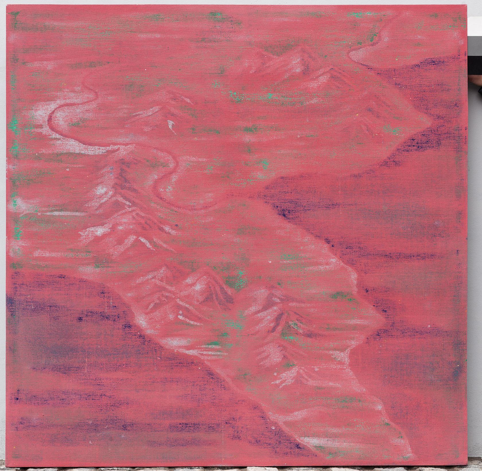 Landscape no. 30 / 160,5 x160,5 cm / mixed media, canvas / 2013