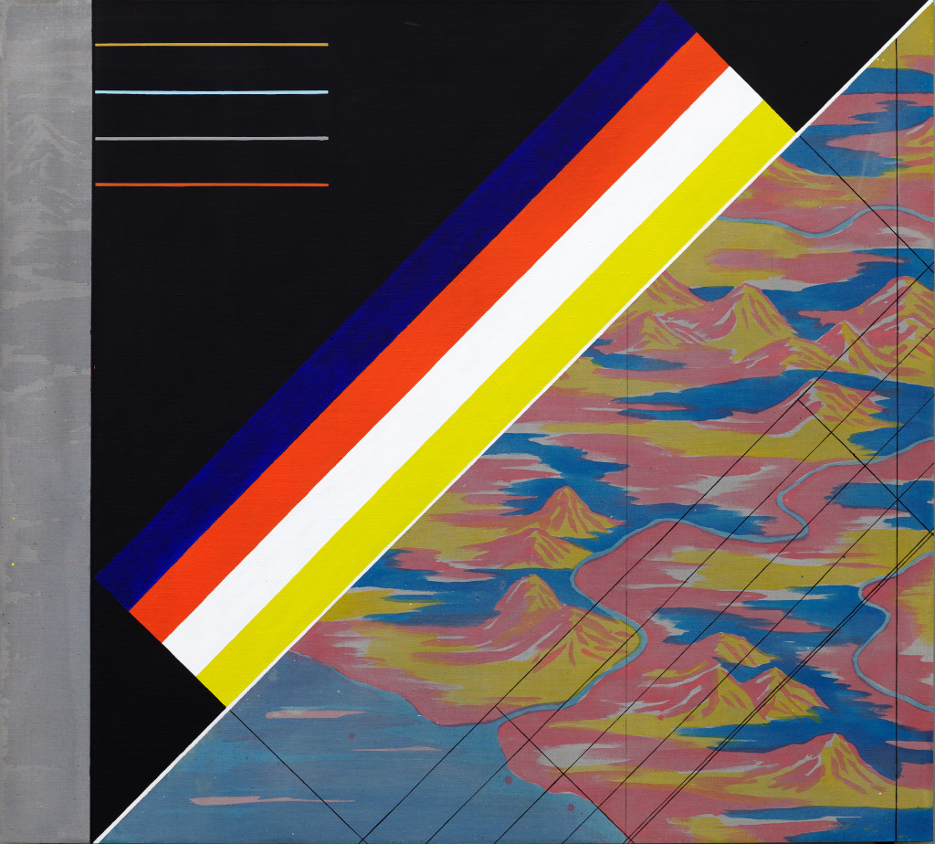 GEO - metry no. 3 / from the Residential Sector series / 180 x 200 cm / mixed media, canvas / 2013