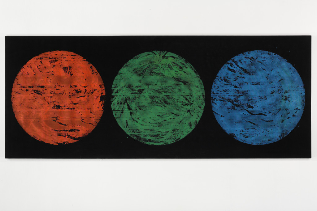 RGB No. 10 from the DATA series 120 x 300 cm mixed media canvas 2014