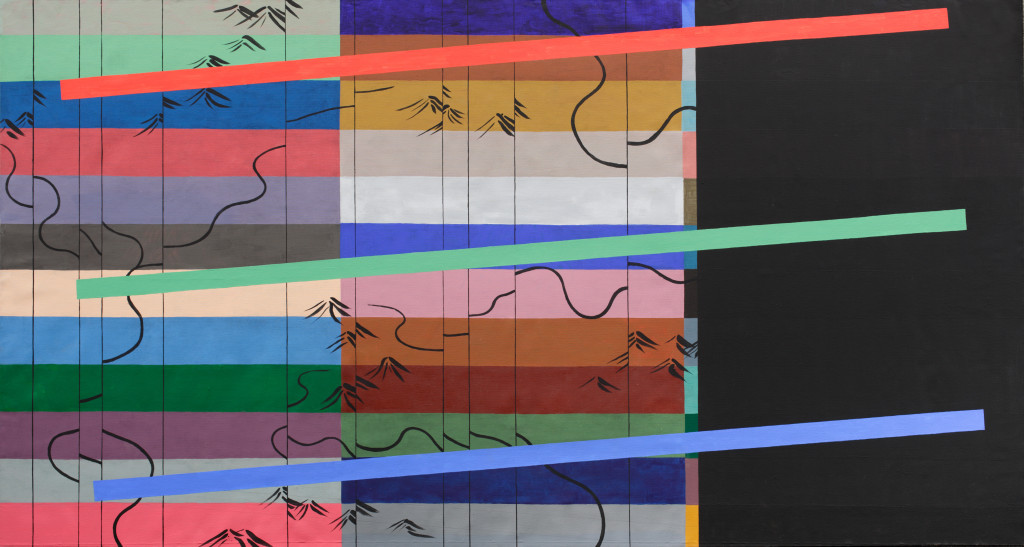 RGB No. 2  from the DATA series  215 x 400 cm  mixed media, canvas  2013