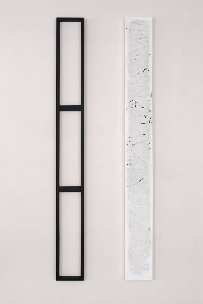 GEO-metry no. 9 / from the Residential Sector series / 2 x 260 x 27 cm / mixed media, canvas, wood / 2013