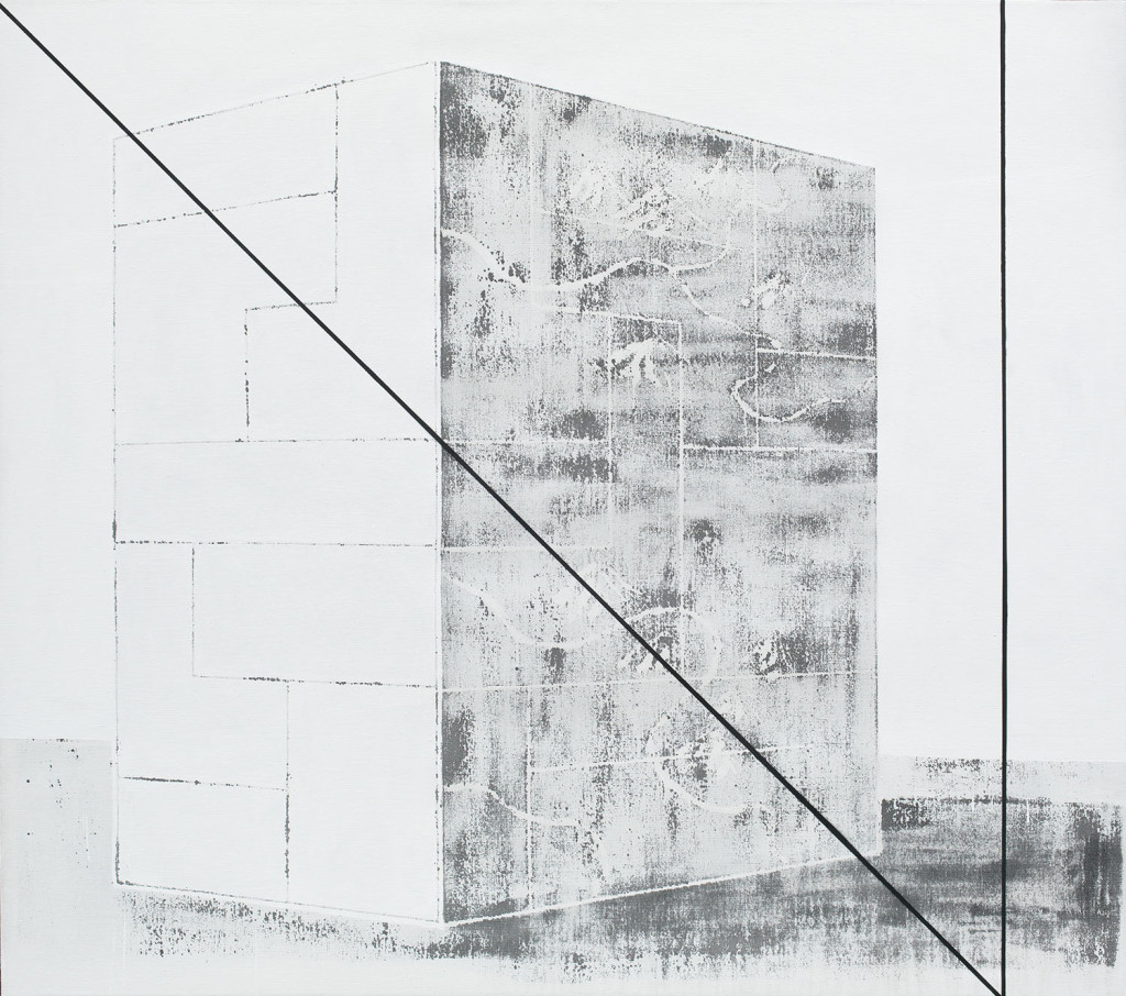 GEO-metry no. 2 / from the Residential Sector series / 160 x 180 cm / mixed media, canvas / 2013