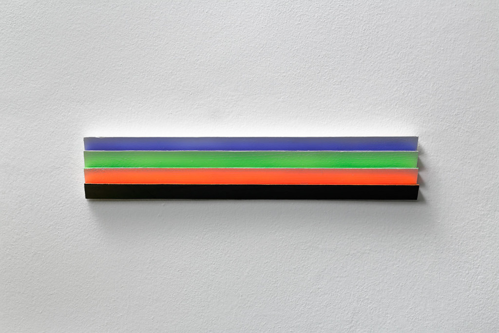 RGB3D no. 6 from DATA series / 43 x 8 x 2 cm / mixed media, wood / 2014