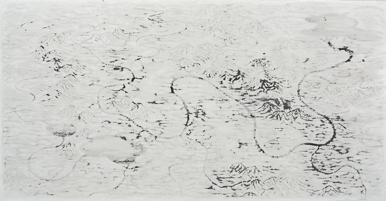 Landscape no. 40 / 210 x 400 cm / mixed media, canvas / 2013
