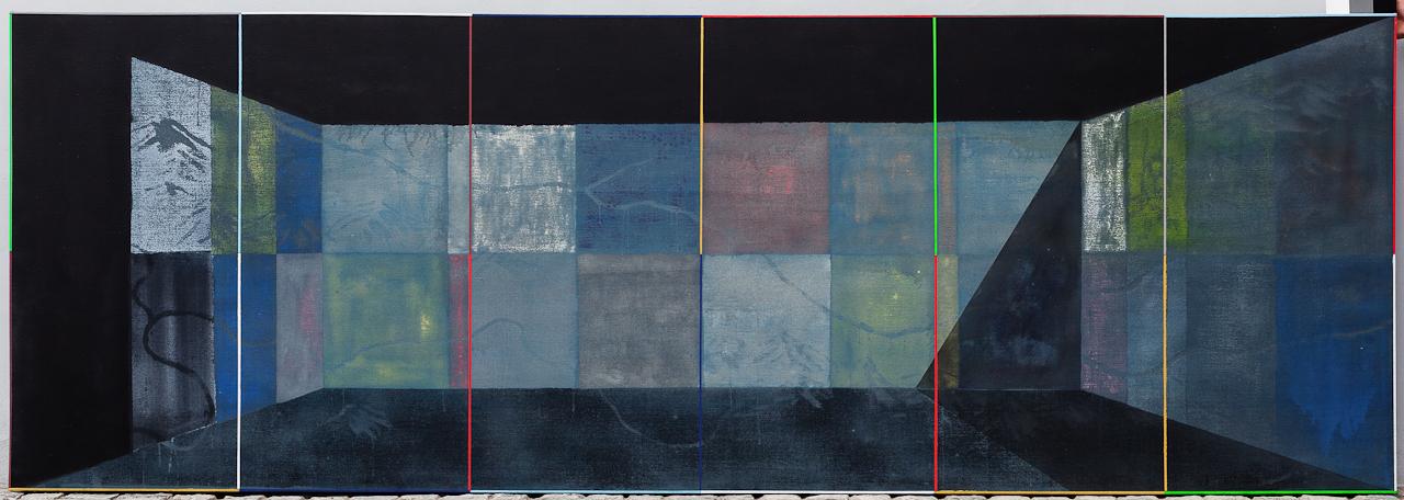 Terária č.41(c.Obytný sektor),140x405cm,komb.tech.plátno,2012