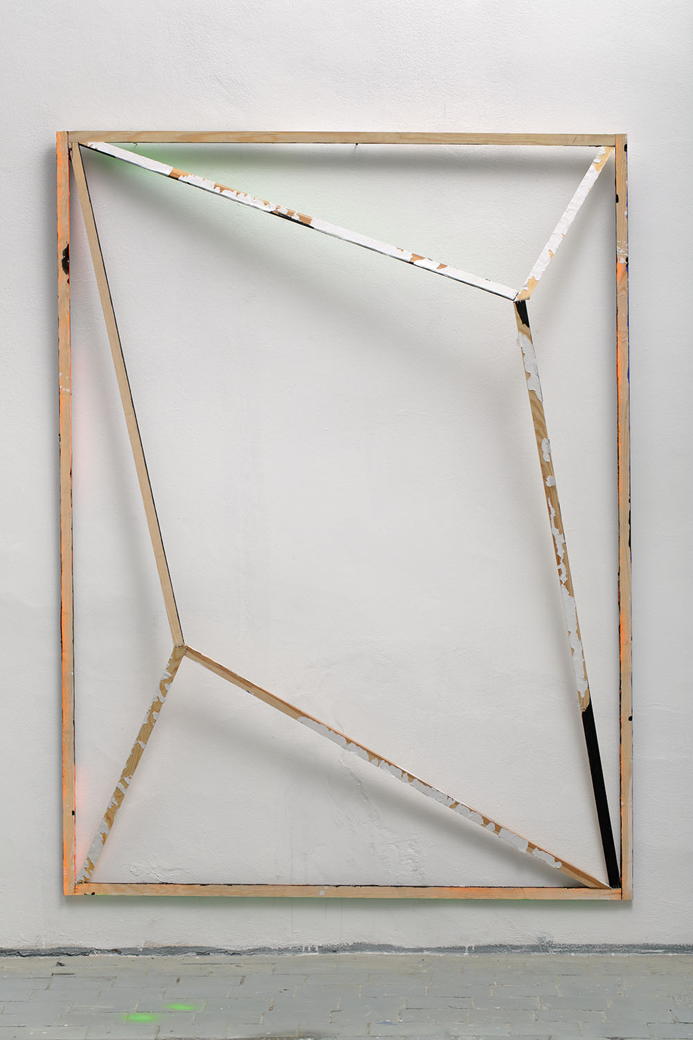 Back field no. 1 from DATA series / 185 x 143 x 25 cm / mixed media, wood / 2015