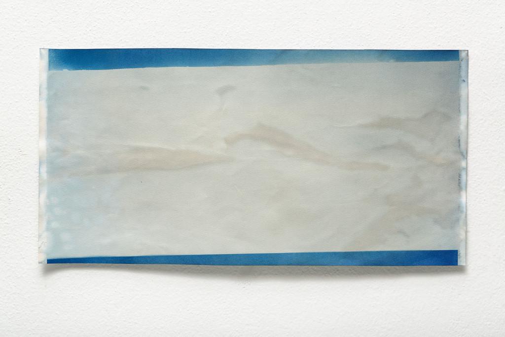 Landscape by light no. 1 / 28 x 48 cm / kianothypy on paper / 2015