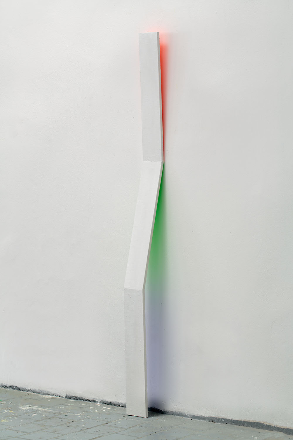 RGB3D fields no. 6 from DATA series / 180 x 12 x 15 cm / mixed media, canvas / 2015