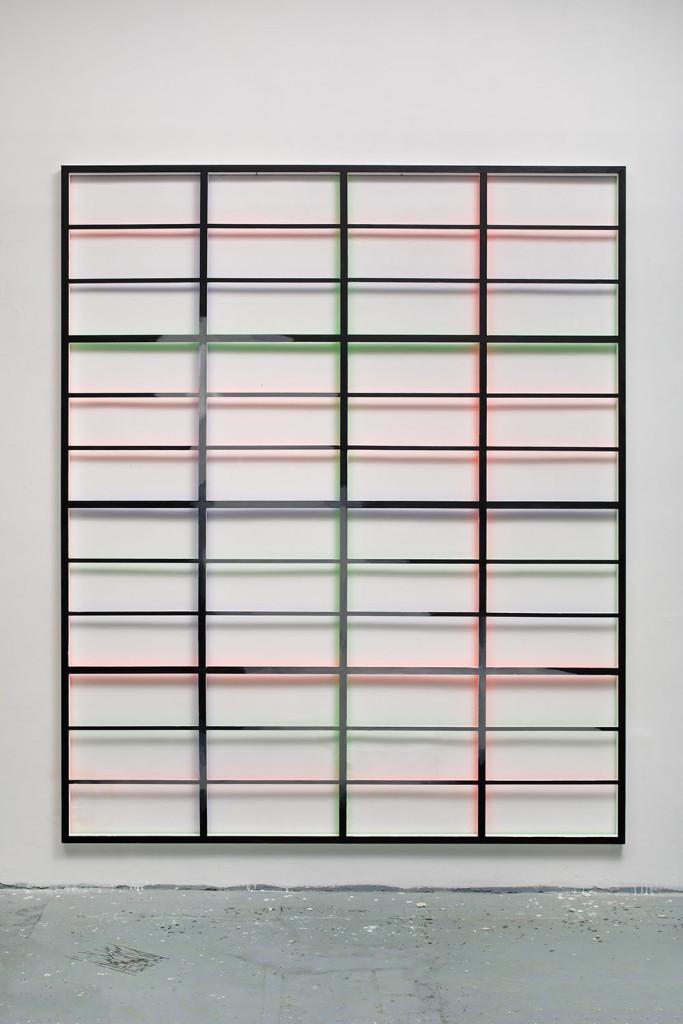 RGB grid no. 2 from DATA series / 280 x 225 x 5 cm / mixed media, wood / 2015
