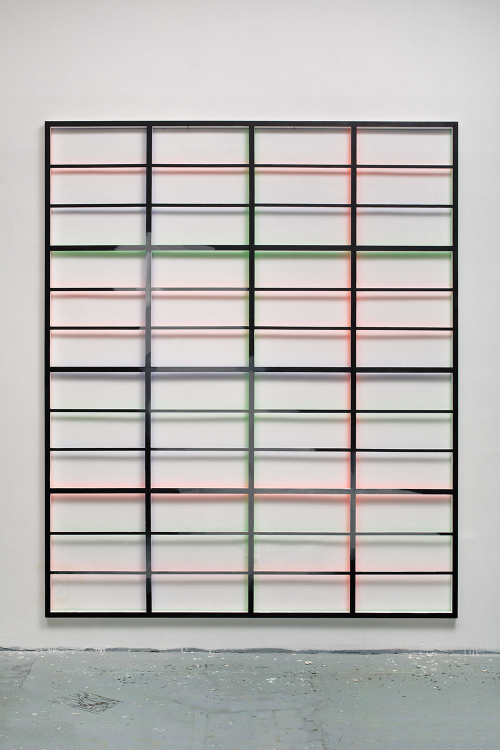 RGB grid no. 2 from DATA series / 280 x 225 x 5 cm / mixed media, wood / 2015