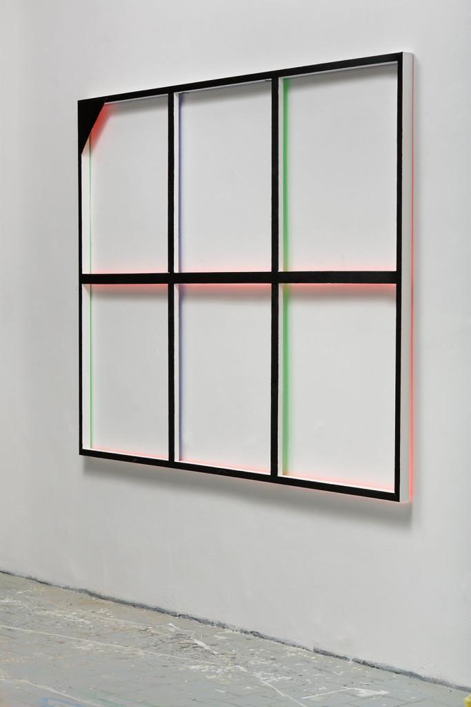 RGB grid no. 1 from DATA series / 185 x 225 x 5 cm / mixed media, wood / 2015