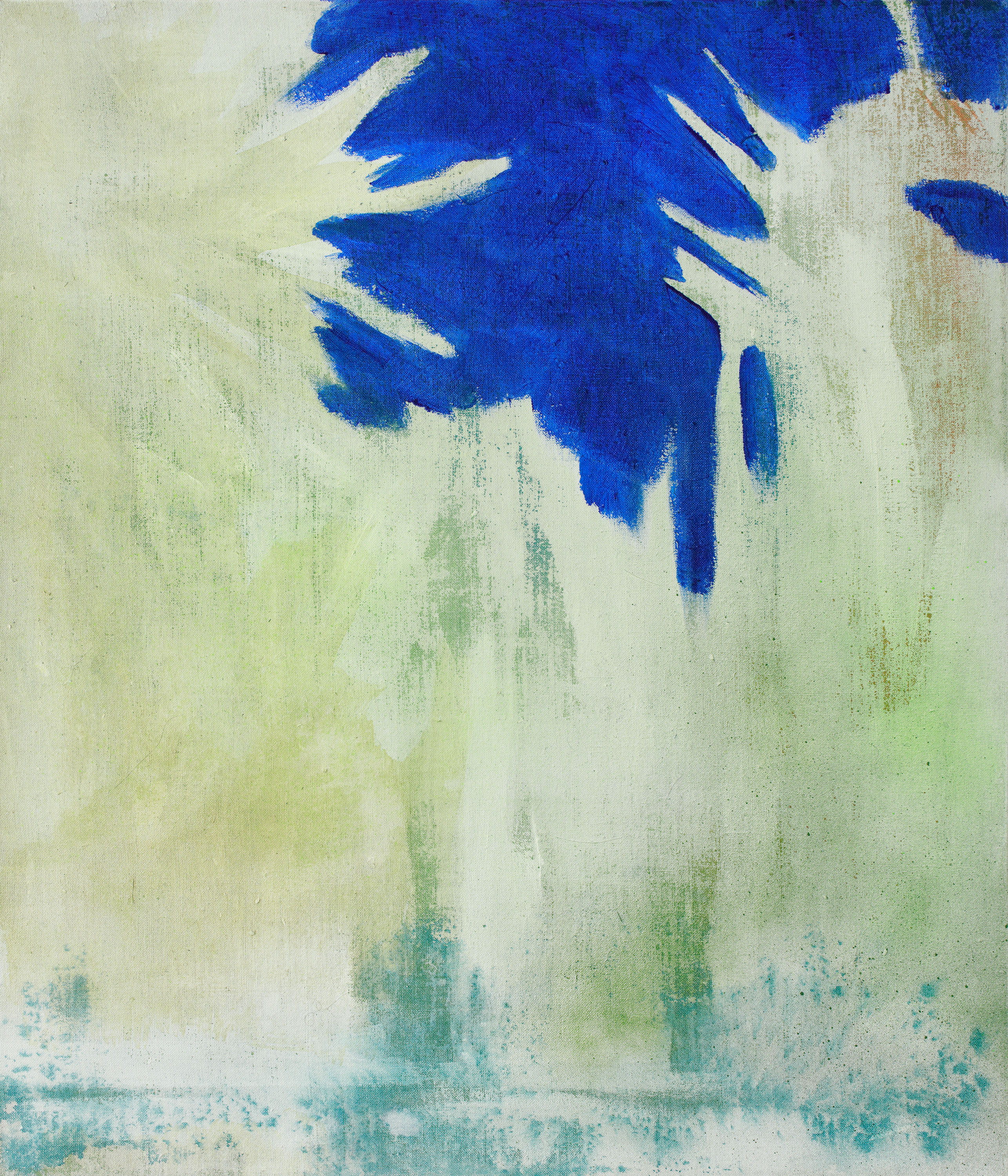 NO in the forest : from the DATA series : 75x65cm : acrylic, canvas : 2108