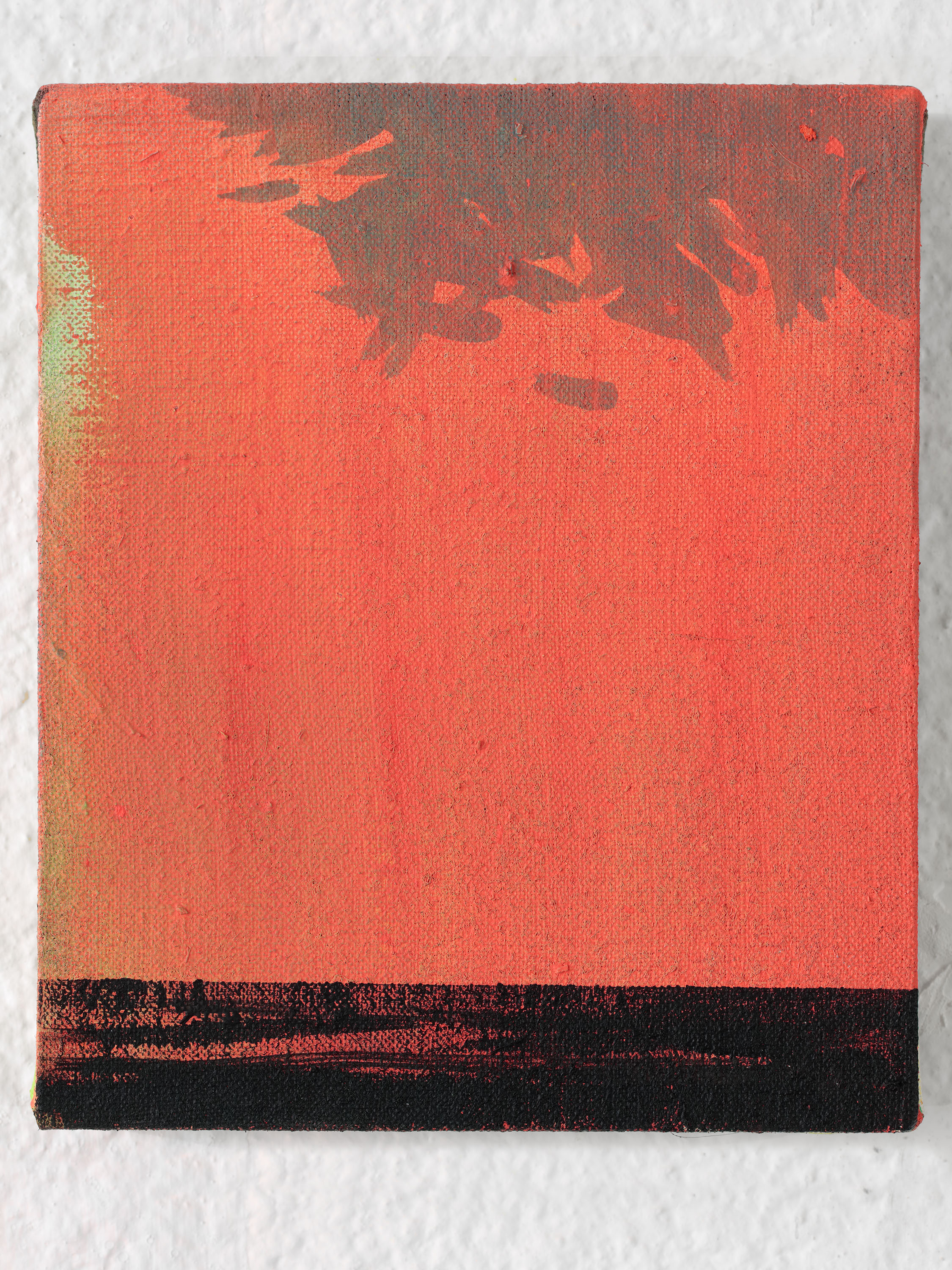 NO in the forest no. 3 / from the DATA series / 20 x 17 cm / acrylic, canvas / 2108