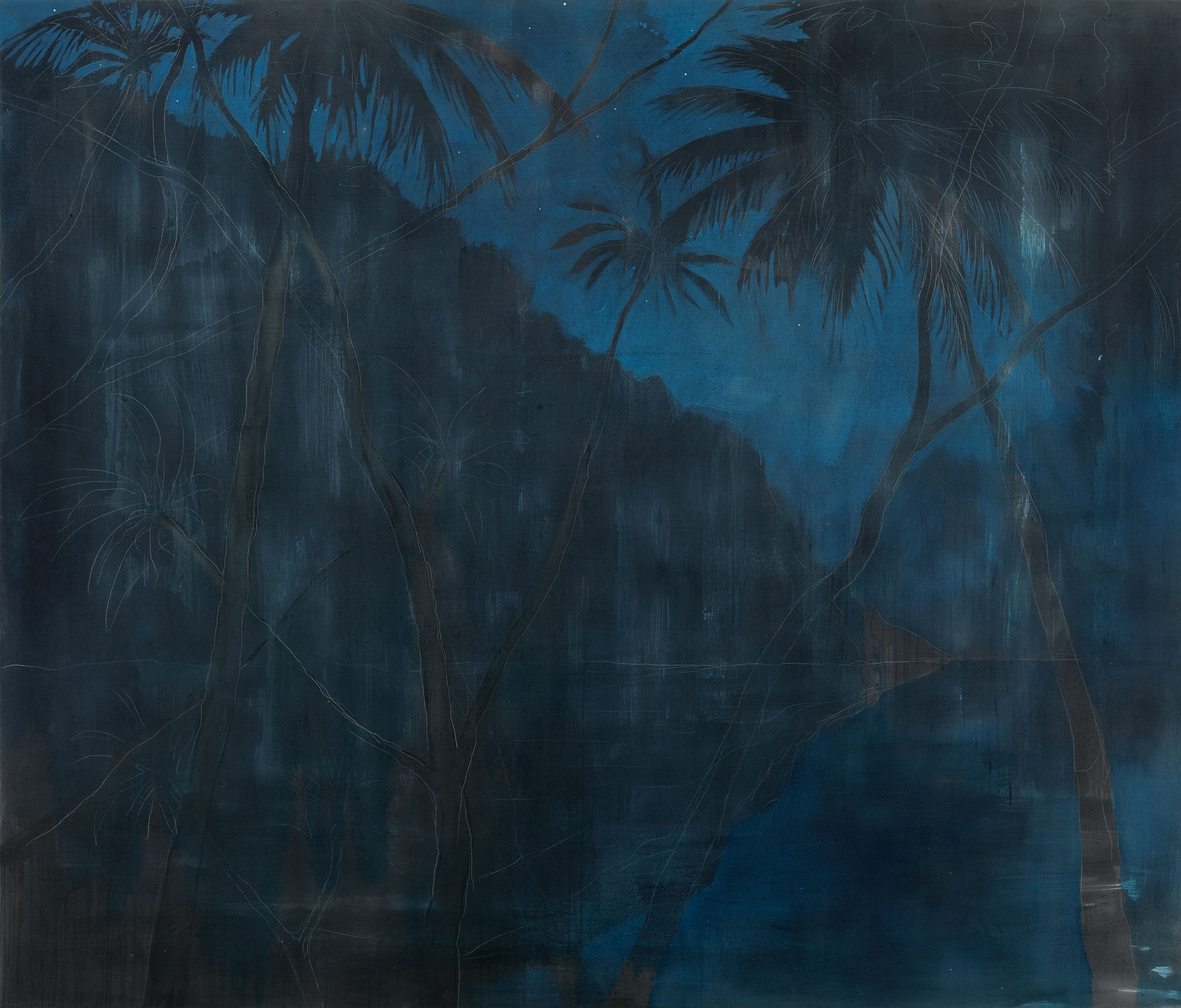 NO in the forest No. 8 : 230 x 270 cm : acrylic, canvas : 2019 :